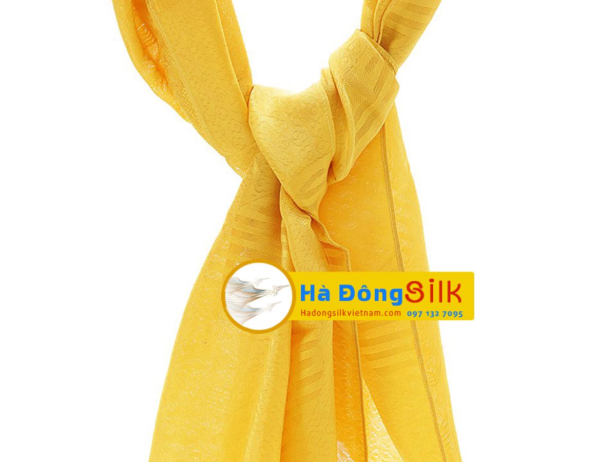 Khăn choàng cổ Hà Đông họa tiết vân vàng chữ Thọ MNV-KL44180