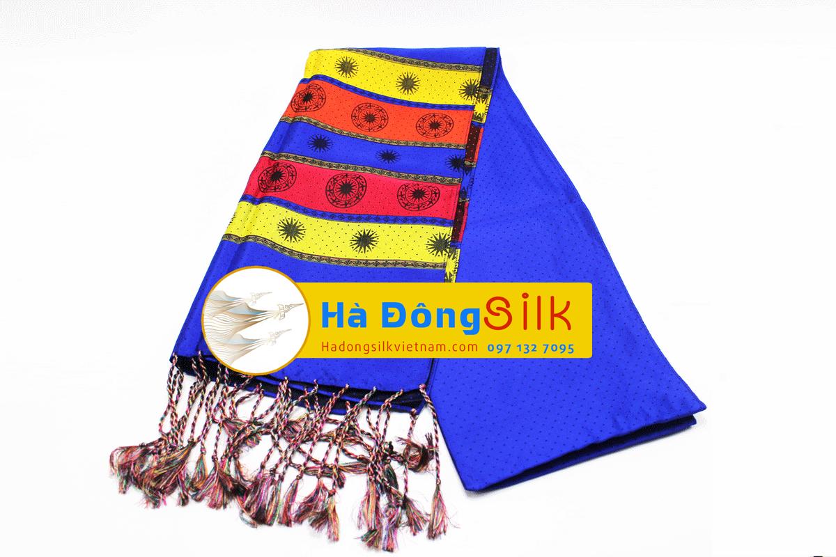 Khăn choàng cổ chàm tím họa tiết chim lạc MNV-KL05